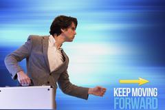 Keep Moving Forward Stock Illustration