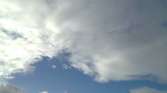 White Clouds Blue Skies Time-Lapse Stock Footage
