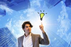 Young Businessman Has An Idea - stock illustration
