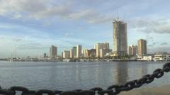 Manila harbor square time-lapse Stock Footage