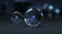 Vj, glass ball on a black background. 3d, stereoscopic, anaglyph Stock Footage
