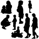 Stock Illustration of Family Silhouettes
