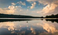 Stock Photo of evening cloud reflections in lake pinchot, at gifford pinchot state park, pen
