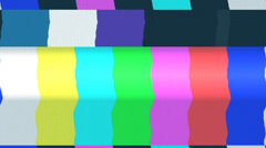 Tv color bars with snow and noise - stock footage