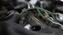 Engine lubrication Stock Footage