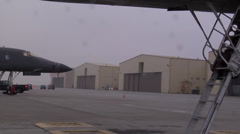 B-1B Lancer bomber aircraft Stock Footage