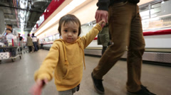 Baby Toddler At The Store 3 Stock Footage