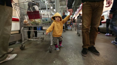 Baby Toddler At The Store 2 Stock Footage