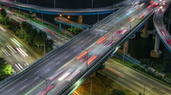 Seoul City 257 Highway Bridge Traffic Stock Footage