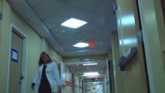 Hospital hallway Stock Footage