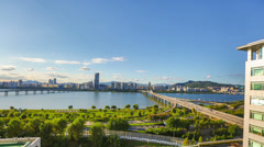 Stock Video Footage of Seoul City 266 Daytime Waterfront Park