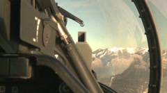 F-16 Fighting Falcon jet aircraft aerial footage Stock Footage