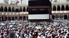 The circling around Kaaba Stock Footage