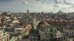 Cuba Havana time lapse panorama HD Stock Footage