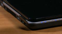 4K Plug Unplug USB on Laptop 2 - stock footage