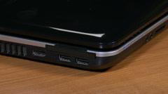 4K Plug Unplug USB on Laptop - stock footage