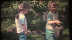 1950's & 60's  vintage, sisters water can Stock Footage