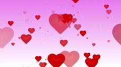 Flying red hearts. (loop) Stock Footage