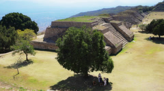 Pyramids of monte alban Stock Footage