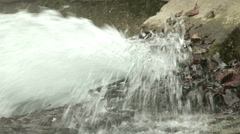 4K Sewage Water Flowing 6 Stock Footage