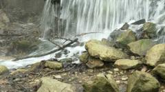 4K Sewage Water Flowing 8 tilt Stock Footage