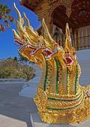 Architectural Heads Dragon Temple - stock photo