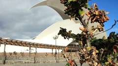 Auditorium in Santa Cruz de Tenerife. Dolly shot. Stock Footage