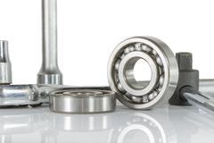 Stock Photo of ball bearing with drive socket set