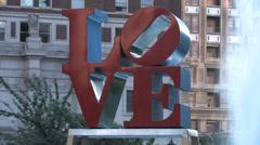Love Park CU Stock Footage