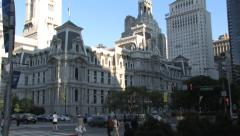 Philadelphia City Hall Zoom out Stock Footage