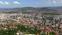 Aerial shot City center in Sarajevo Stock Footage