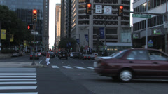 Philadelphia intersection JFK Stock Footage