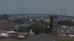 Walt whitman rooftops philadelphia Stock Footage