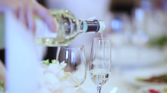 Spill champagne Stock Footage