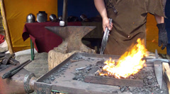 Blacksmith. - stock footage
