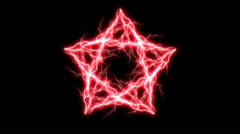 Red Electric Pentagram 5 Stock Footage