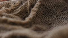 Pepper Blend spices small spoon on top sackcloth Stock Footage