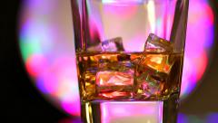 Brandy with ice turns around HD Stock Footage