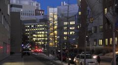 Boston at night - Vassar St Cambridge(3) Stock Footage