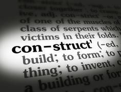 Dictionary construct - stock photo