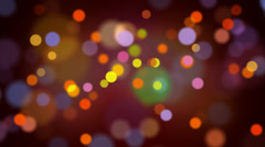 Light bokeh loop moving Stock Footage