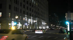 Boston at night - Boylston Street (3) Stock Footage