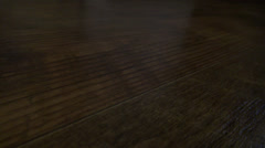 Wood grain kitchen floor linoleum Stock Footage