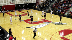 High speed time lapse of High School basketball game - stock footage