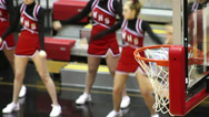 Stock Video Footage of Shallow depth of field basketball rim close up