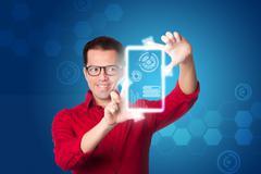 digital business intelligence - stock illustration