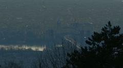 Budapest Hungary Aerial Sunrise 2 Stock Footage