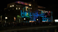 Museum of Contemporary Art - Vivid Festival Stock Footage