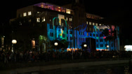 Stock Video Footage of Museum of Contemporary Art - Vivid Festival