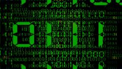 Digital Binary Matrix Stock Footage
